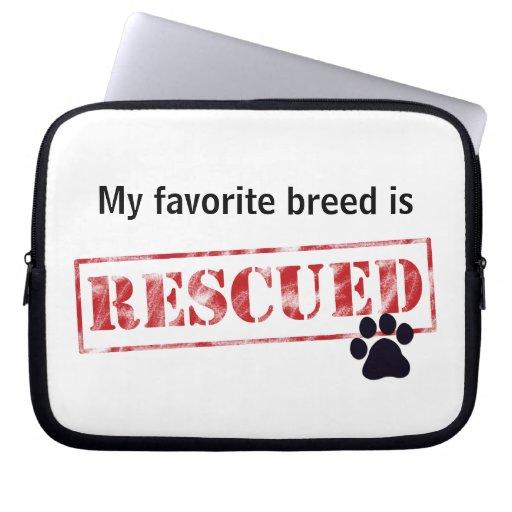 My Favorite Breed Is Rescued Computer Sleeves