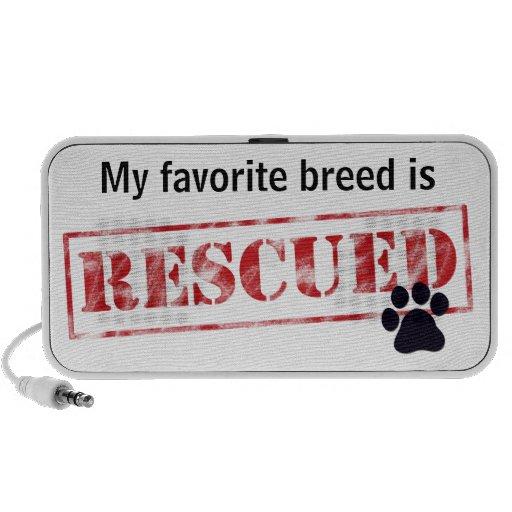My Favorite Breed Is Rescued Laptop Speaker