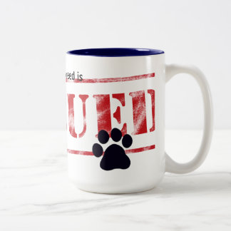 My Favorite Breed Is Rescued Two-Tone Coffee Mug