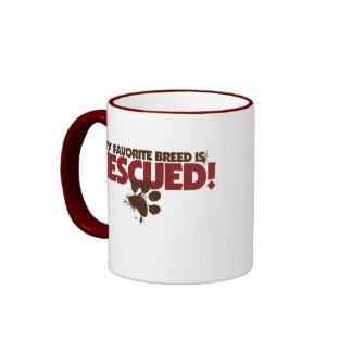 My favorite Breed is rescued Ringer Mug