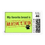 My Favorite Breed Is Rescued Stamp