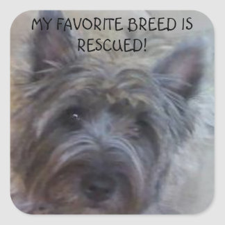My Favorite Breed is Rescued! Square Sticker