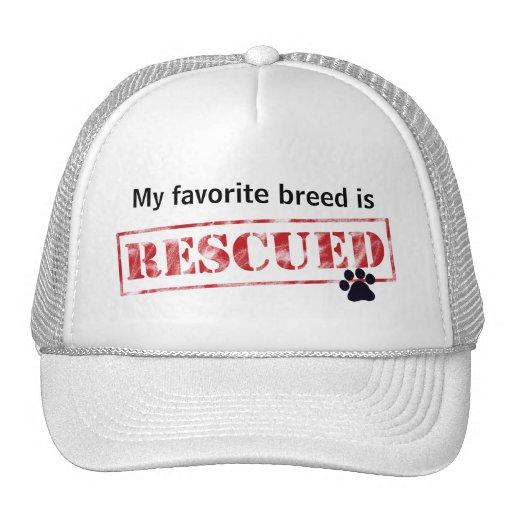 My Favorite Breed Is Rescued Trucker Hat