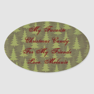 My Favorite Candy or Baked Good Food Gift Label Sticker