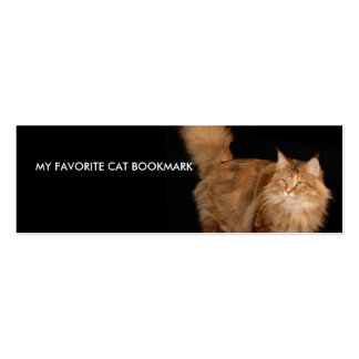 My Favorite Cat Bookmark Business Cards