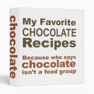 My Favorite Chocolate Recipes... Binder