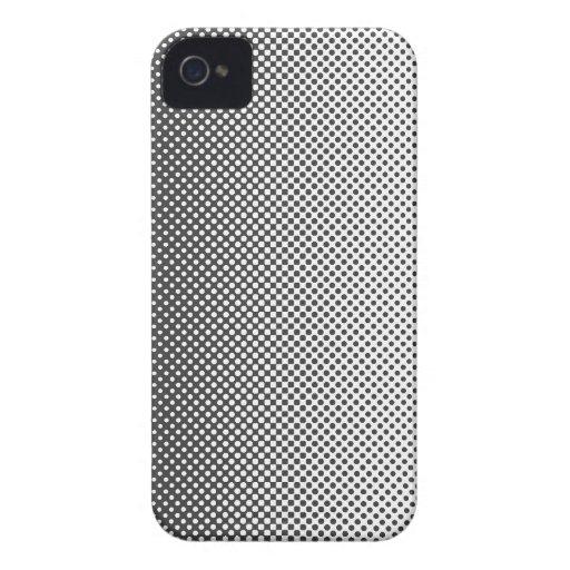 My favorite color Blanco y negro iPhone 4 Carcasa