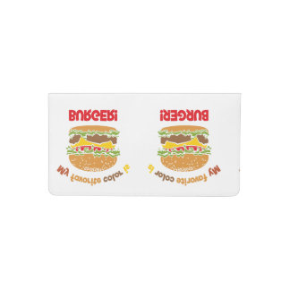 My favorite color is Burger! Checkbook Cover
