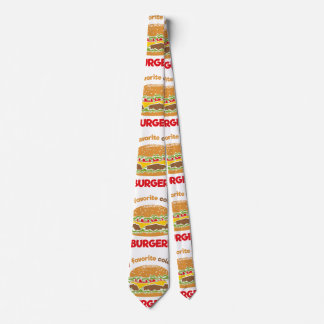 My favorite color is Burger! Neck Tie