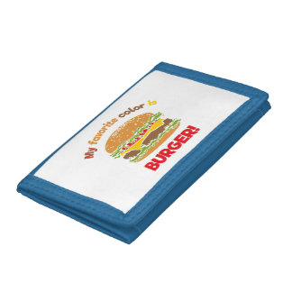 My favorite color is Burger! Trifold Wallet