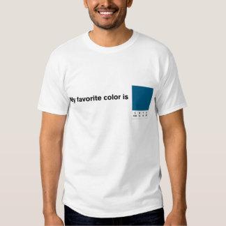 My Favorite Color is CMYK Blue T-Shirt