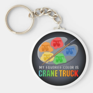 My Favorite Color Is Crane Truck Key Chain