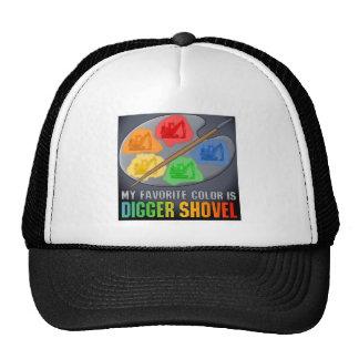 My Favorite Color Is Digger Shovel Truck Hat