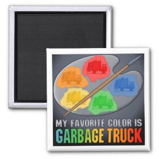 My Favorite Color Is Garbage Truck Magnet