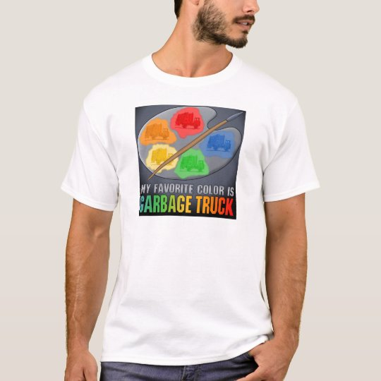 My Favorite Color Is Garbage Truck Mens T-Shirt