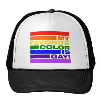 """My Favorite Color is GAY!"" Trucker Hat"