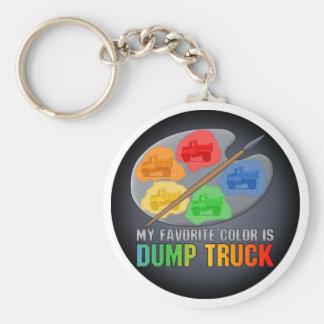 My Favorite Color Is Little Dump Truck Key Chain