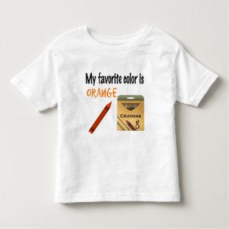My Favorite Color is Orange Toddler T-shirt