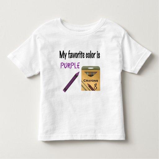 my favorite color is purple toddler t shirt zazzle. Black Bedroom Furniture Sets. Home Design Ideas