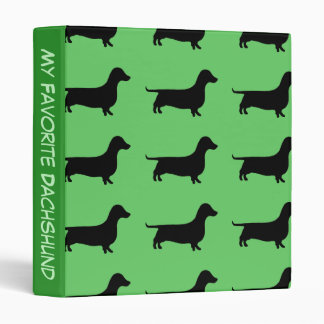 My Favorite Dachshund Binder Any Color