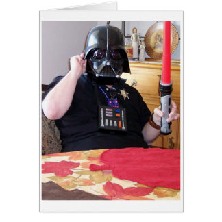 MY FAVORITE DAY PLAYING DARK VADER CARDS
