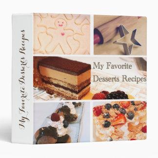 My favorite desserts recipes 1,5'' Binder