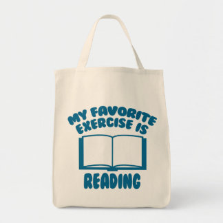 My Favorite Exercise Is Reading Tote Bag
