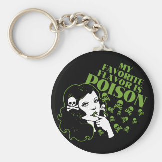 My Favorite Flavor is Poison Keychain