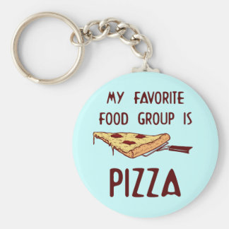 My Favorite Food Group is Pizza Keychain