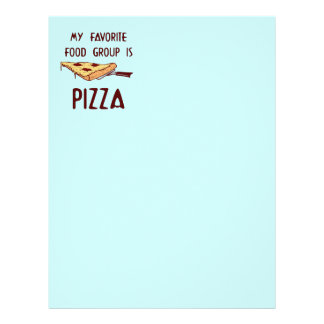 My Favorite Food Group is Pizza Letterhead