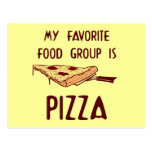 My Favorite Food Group is Pizza Postcard