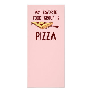My Favorite Food Group is Pizza Rack Card