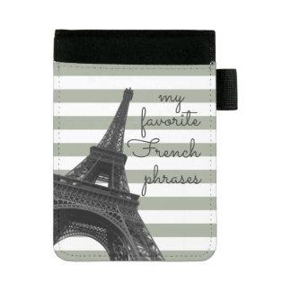 My favorite French phrases   Paris Eiffel Tower Mini Padfolio