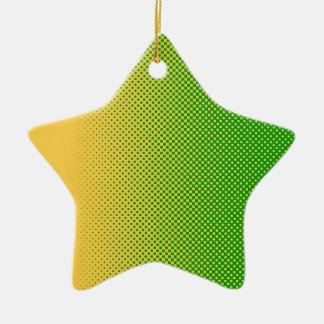 My Favorite - green color-yellow Ceramic Ornament