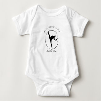 My Favorite Gymnast Calls Me Mom Funny Gifts Baby Bodysuit