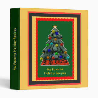 My Favorite Holiday Recipes Notebook Binder