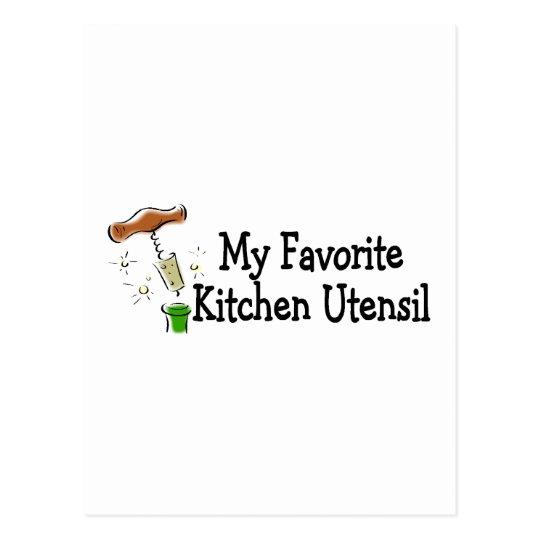 My Favorite Kitchen Utensil Postcard