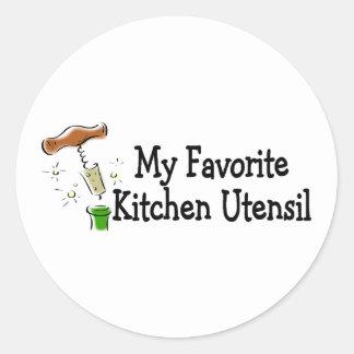 My Favorite Kitchen Utensil Round Stickers