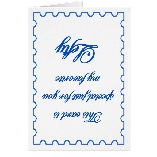 My Favorite Lefty Greeting Card