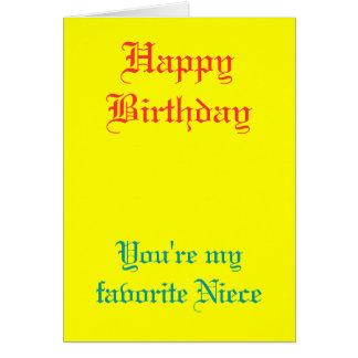 My favorite niece birthday cards