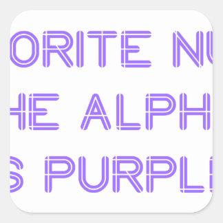 my-favorite-number-so-purple.png calcomanias cuadradas