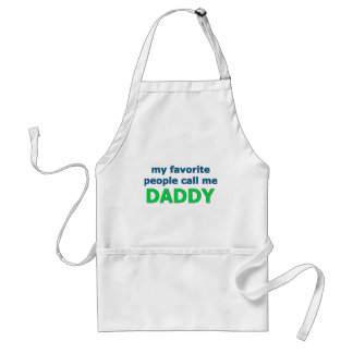 my favorite people call me daddy adult apron
