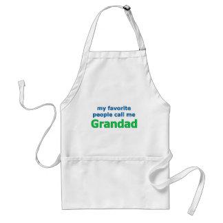my favorite people call me grandad adult apron