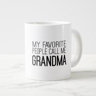My Favorite People Call Me Grandma 20 Oz Large Ceramic Coffee Mug