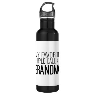 My Favorite People Call Me Grandma Water Bottle