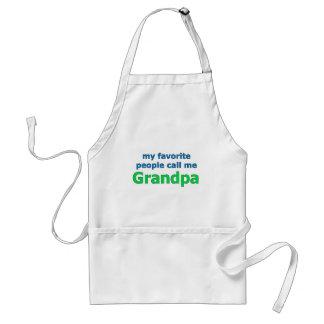 my favorite people call me grandpa adult apron