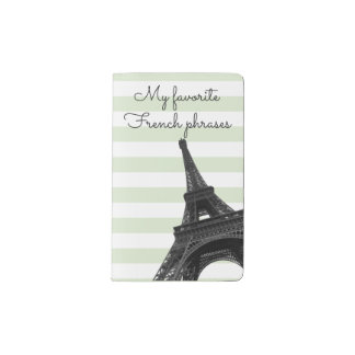 My favorite phrases   Learn French   Eiffel Tower Pocket Moleskine Notebook
