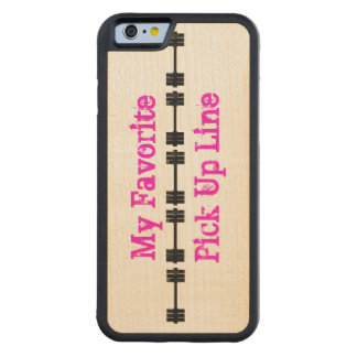 My Favorite Pick Up Line Carved® Maple iPhone 6 Bumper Case