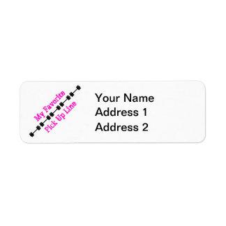 My Favorite Pick Up Line Return Address Labels