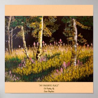 """MY FAVORITE PLACE""Oil Painting BySus... Print"